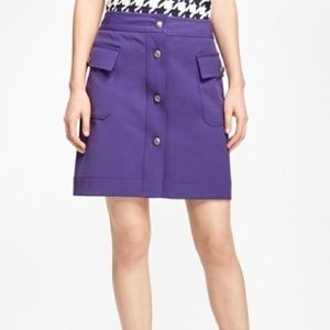 Brooks Brothers Cargo Pocket Button Front Skirt